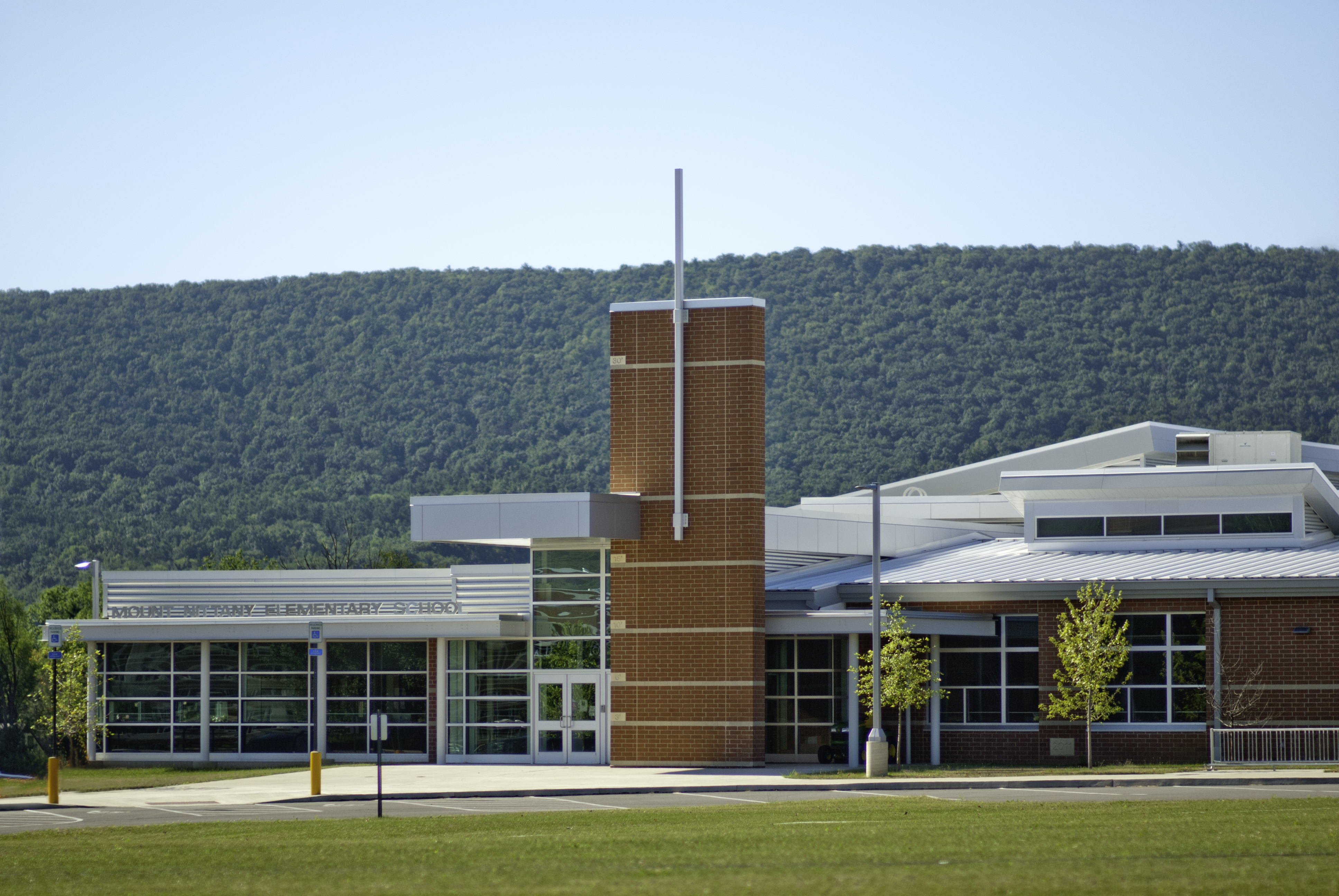 Front Elevation Of College Building : State college area school district mount nittany