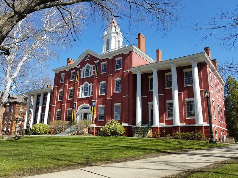 Exterior of Bentley Hall at Allegheny College
