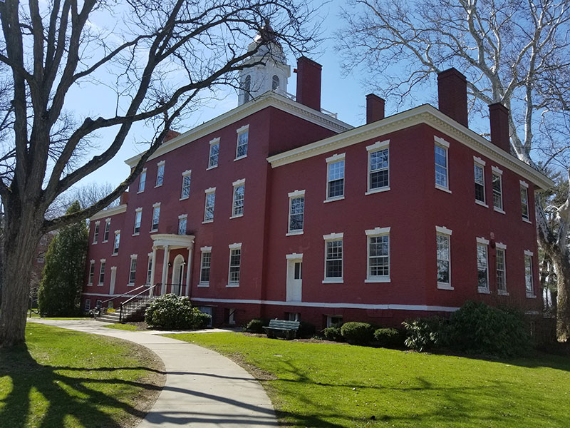 Angled view of Bentley Hall at Allegheny College