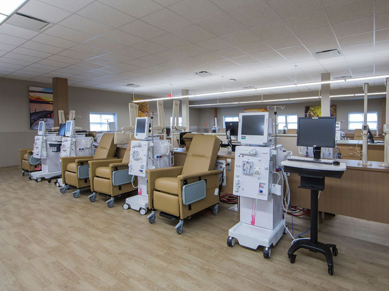 Outpatient dialysis clinic interior