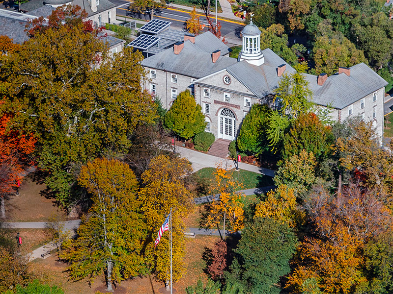 Aerial View of Dickinson College
