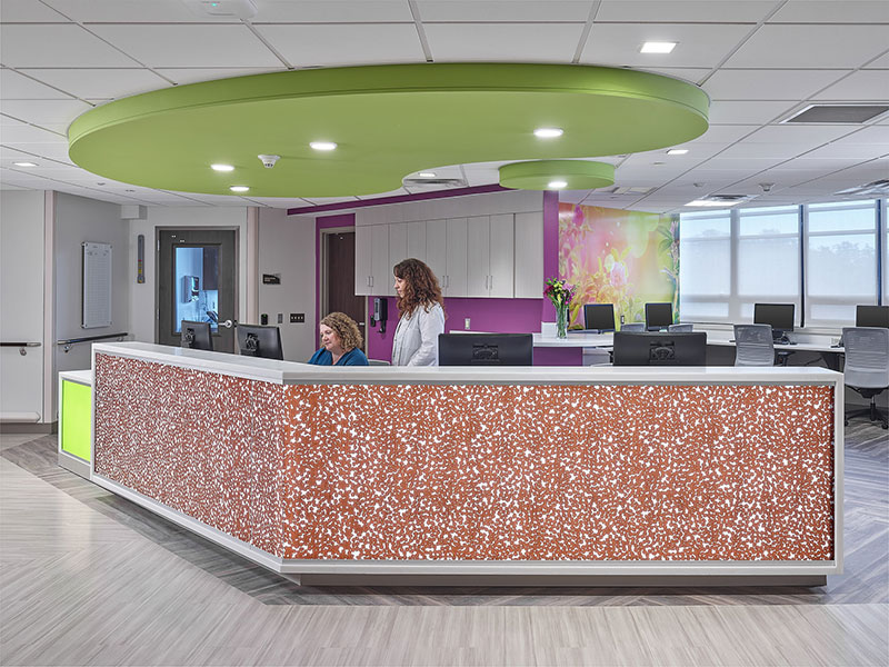 Holy Redeemer Hospital South Wing reception desk