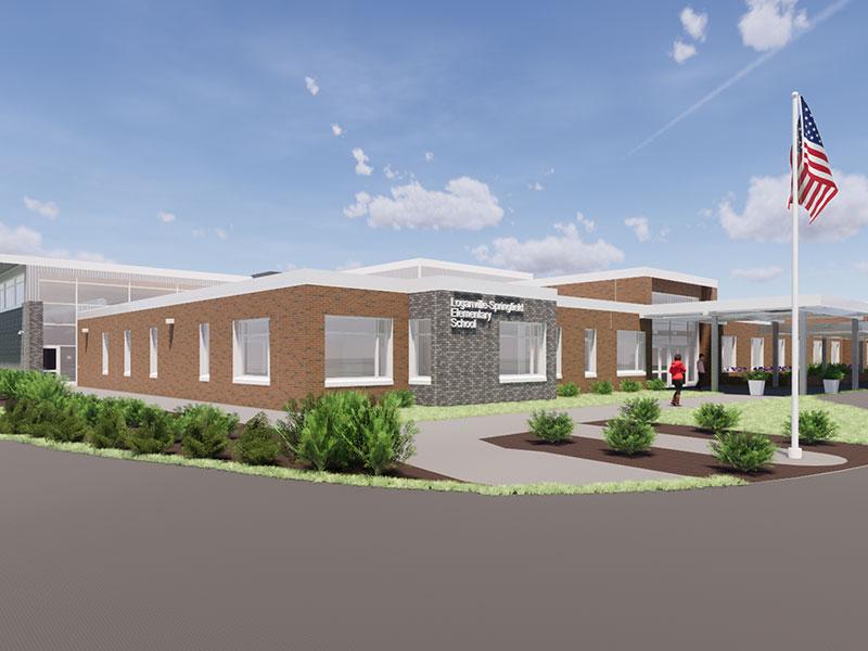 Rendering of Loganville-Springfield Elementary School exterior
