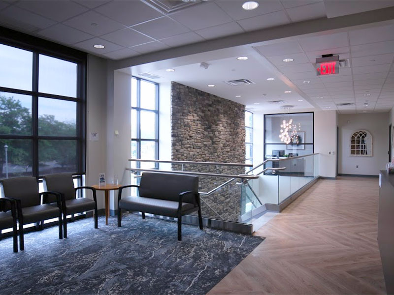 Lobby of Ocean Health Initiatives Toms River Health Center