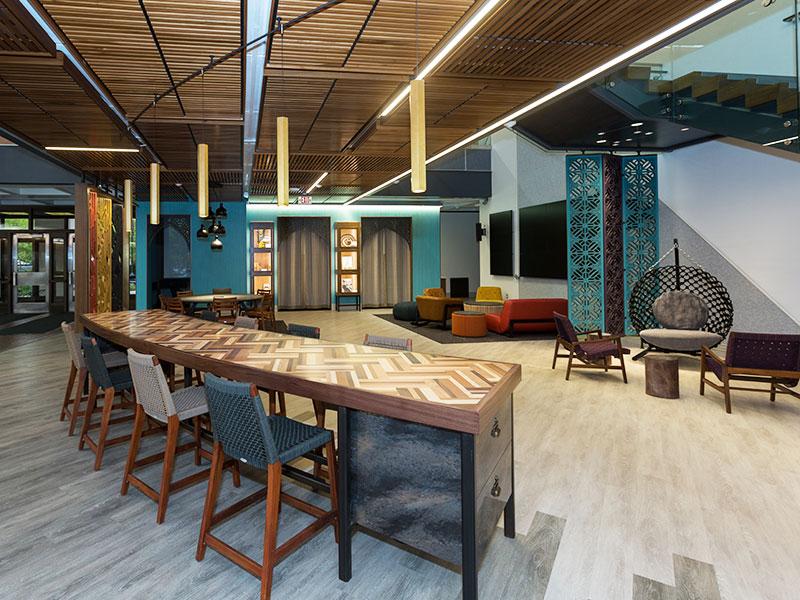 Posvar Hall lounge at PittGlobal Studies Hub