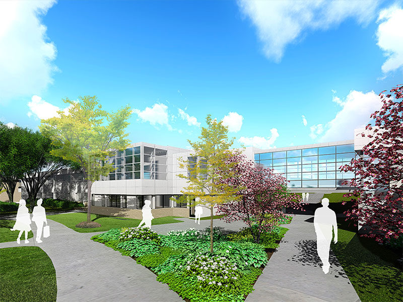 Exterior rendering of the Beaver Community Center at Penn State Berks