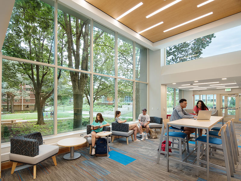 Students studying in East Halls at Penn State