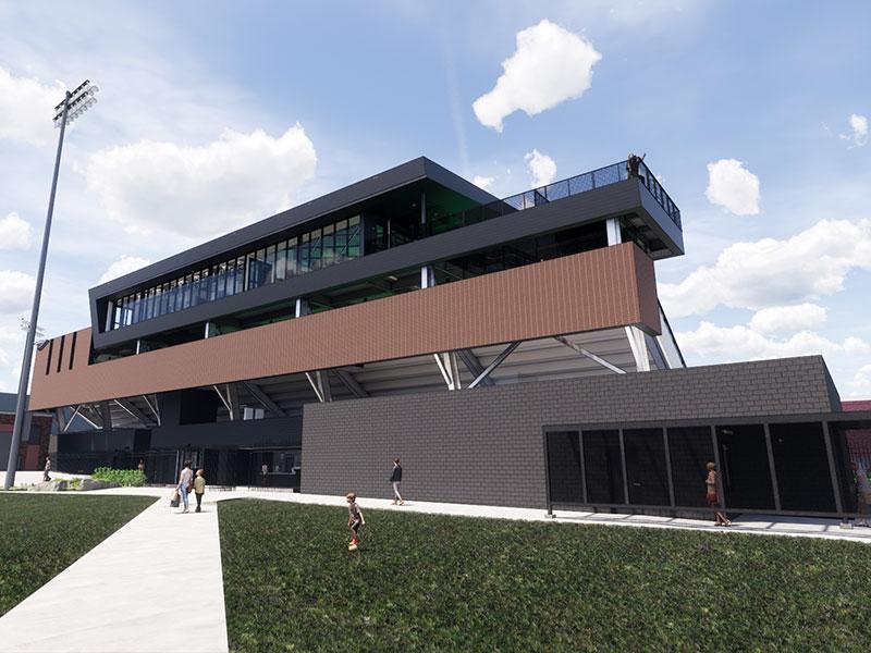 Rendering of the Field Hockey Stadium at Penn State