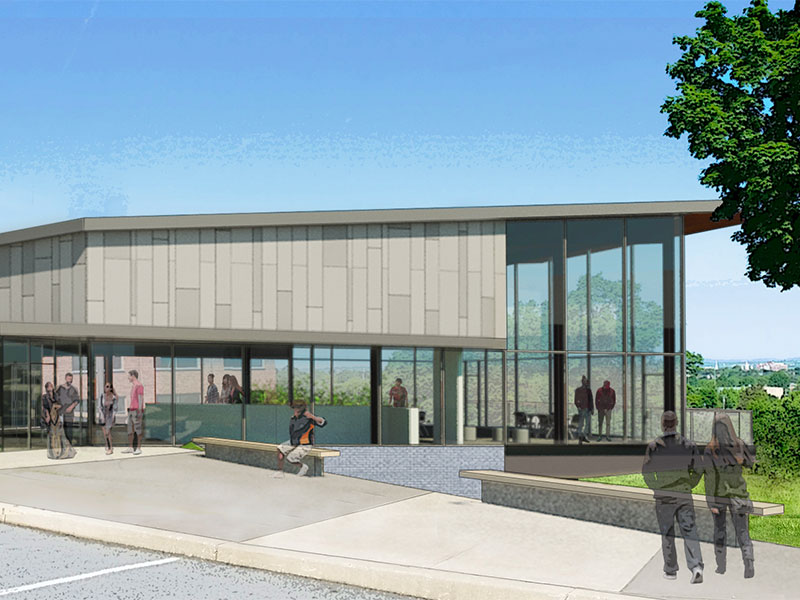 Exterior rendering of Graham Center for Innovation and Collaboration at Penn State York
