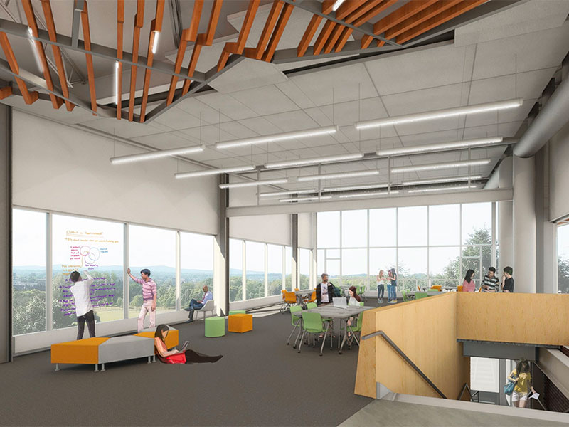 Interior rendering of Graham Center for Innovation and Collaboration at Penn State York