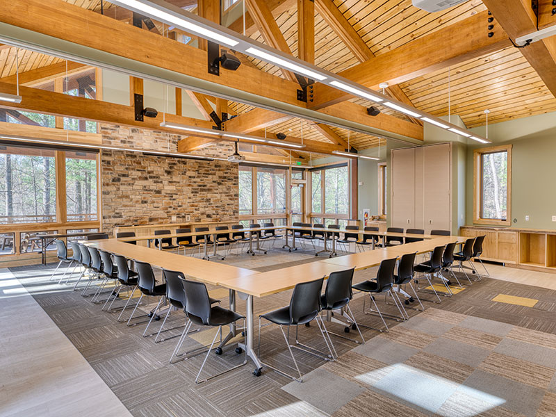 Conference room at Shaver's Creek Environmental Center at Penn State