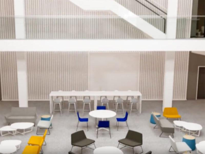 Interior rendering of the Willard Building at Penn State University