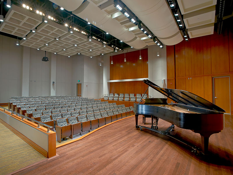 Practice stage at High Center at Messiah University