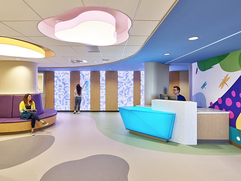 Pediatric Unit Waiting Room at UPMC Harrisburg