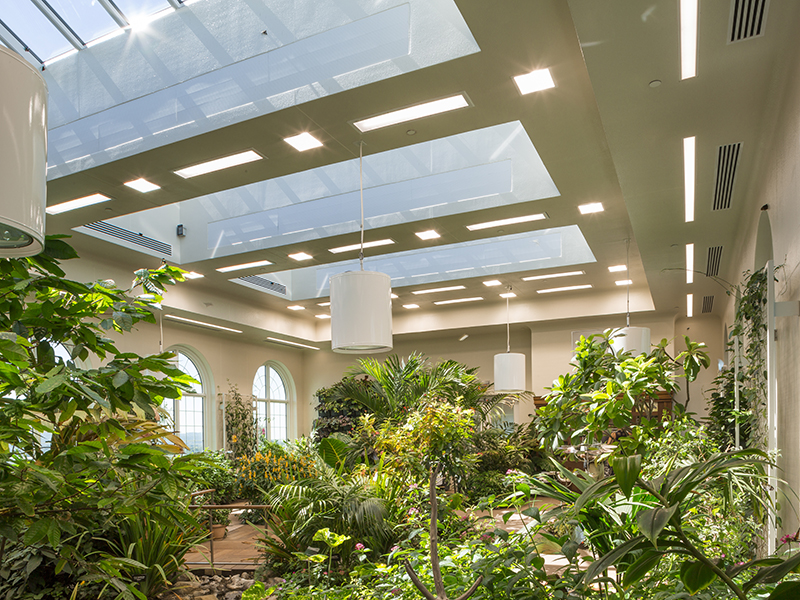 Atrium at Milton & Catherine Hershey Conservatory at Hershey Gardens