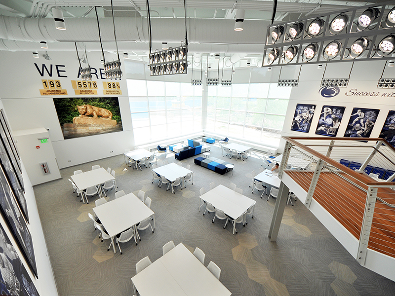Reading Room at Morgan Academic Center for Penn State