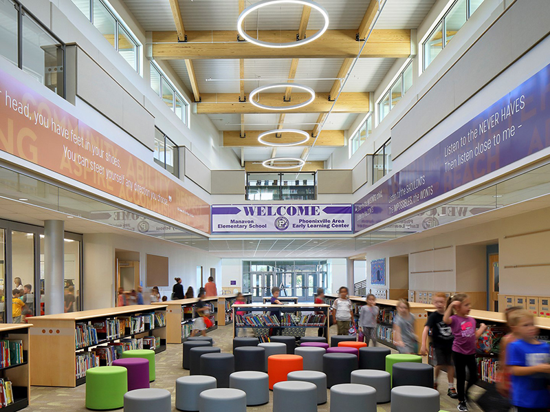 New Early Learning Center and Manavon Elementary School Interior Phoenxville ASD